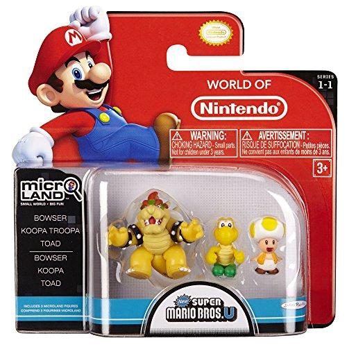 Nintendo Mario Bros U Micro Figure 3 Pack - Bowser/Koopa/Toad Mario Bros U Micro la Figure Pack 3 de - Bowser / Koopa / Toad