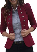 DongDong✫Women Steampunk Vintage Button Casual Office Tailcoat Overcoat Victorian Blazers Plus Zize