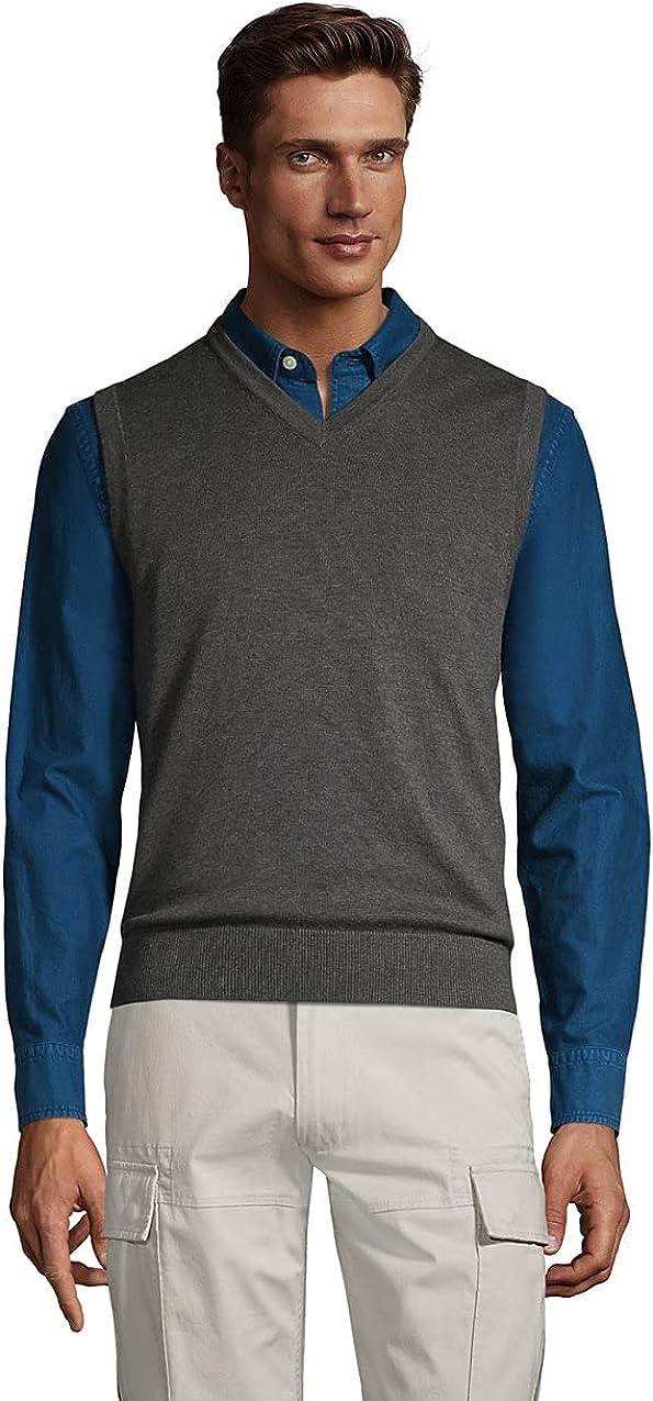 Lands' End Men's Fine Gauge Supima Cotton Sweater Vest