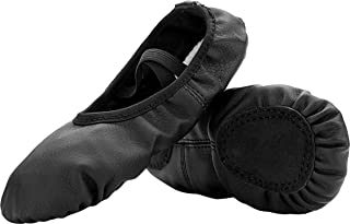 FEETCITY Girls Leather Ballet Dance Shoes Women Pointe Shoes Slippers Flats Yoga Shoe(Toddler/Little Kid/Big Kid/Women)