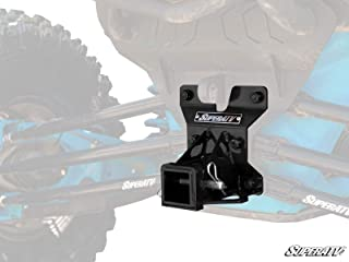 SuperATV Heavy Duty Rear Receiver Hitch for Can-Am Maverick X3 (2017+) - Black - Fits Standard 2