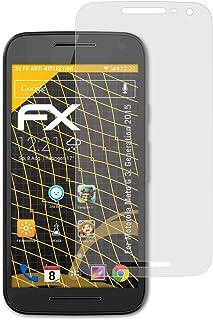 atFoliX Skärmskydd är kompatibel med Motorola Moto G 3. Generation 2015 Skyddsfilm, antireflekterande och stötdämpande FX ...