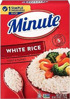 Minute Instant White Rice, Gluten-Free, Non-GMO, No Preservatives, 42-Ounce Box