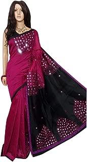 Best black plain saree with mirror work Reviews