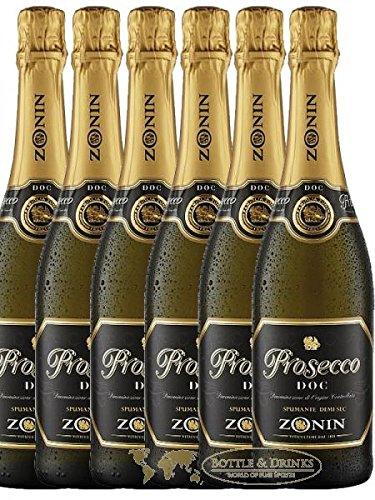 Zonin Spumante Brut Prosecco Italien 6 x 0,7 Liter