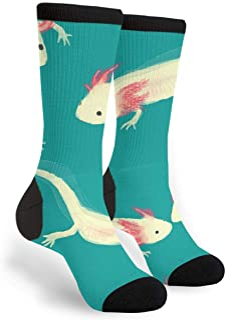 Women's Men's Fun Novelty Crazy Crew Socks Axolotl Dress Socks
