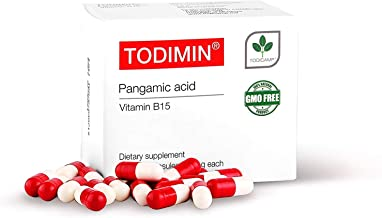 TODIMIN® - Vitamin B-15 – Pangamic Acid 60 Capsules, Brain Function Supplement, Boost Oxygen Levels, Non-GMO, Non-Toxic, I...