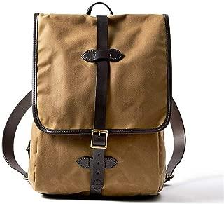 Filson Tin Cloth Backpack, Dark Tan, One Size