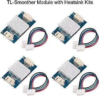 MakerHawk 4pcs TL-Smoother Module Heatsink with Du-pont Wire Kits for Pattern Elimination Motor Filter Clipping Filter 3D Printer Motor Drivers Terminator Reprap MK8 I3 (Assembled)