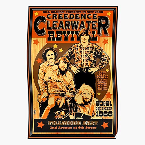Anbugang Fogerty CCR John Bill Revival Grahm Clearwater Creedence Geschenk für Wohnkultur Wandkunst drucken Poster 11.7 x 16.5 inch
