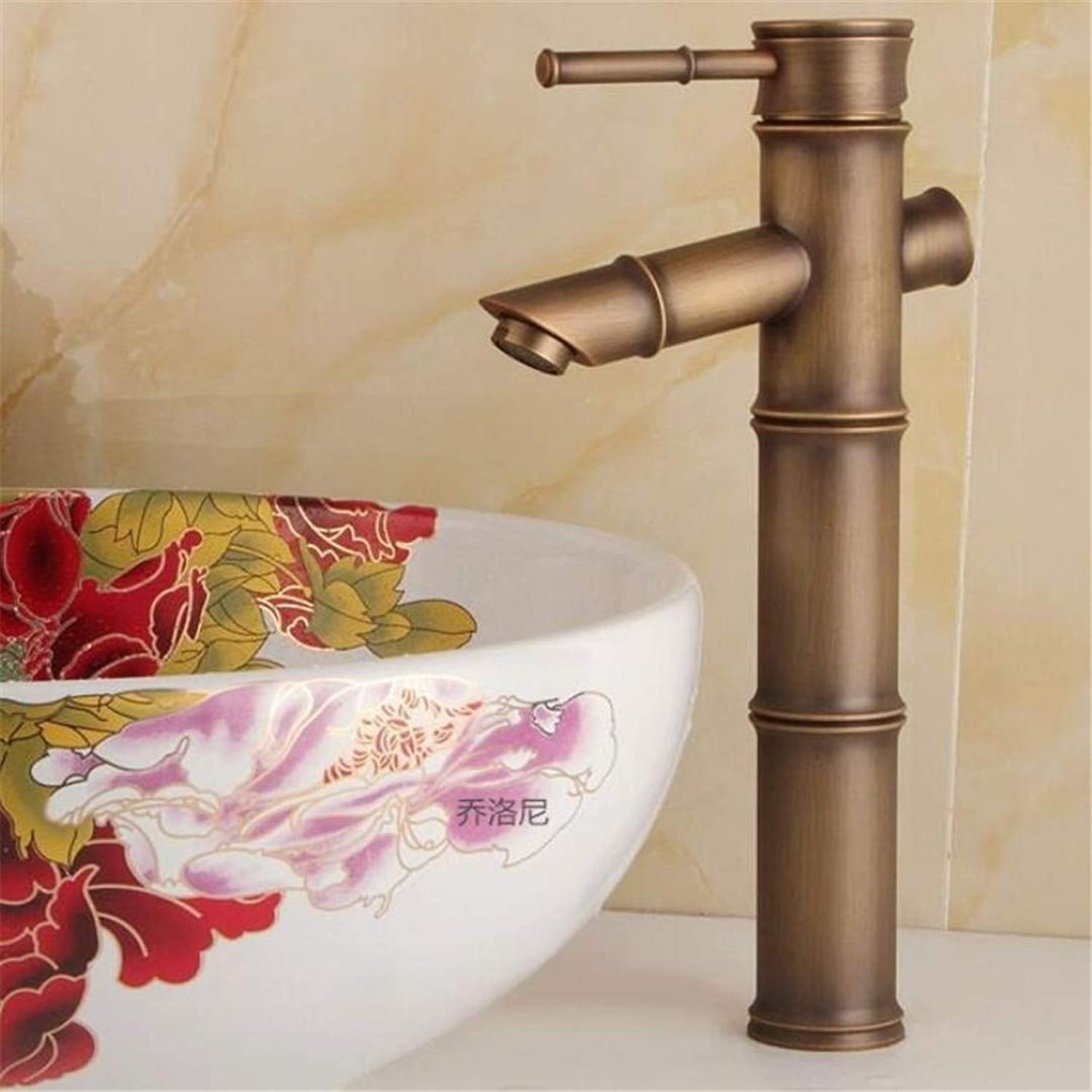 Basin Sink Mixer Faucet?Hot and Cold Water Basin Basin Faucet Basin Bathroom Washbasin Faucet Antique Above Counter Basin Lift Faucet