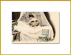 Semi Nude Corset Lady New 4x6 Vintage Postcard Image Photo Print VN30