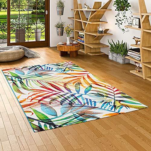 Pergamon Faro - Tappeto di Design - Colorato Rami Tropicali - 5 Dimensioni