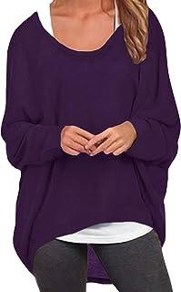 f9acc9e3d41243 ZANZEA Donna Maglia a Manica Lunga Cardigan Asimmetrico Camicia Pullover  Camicetta Superiore