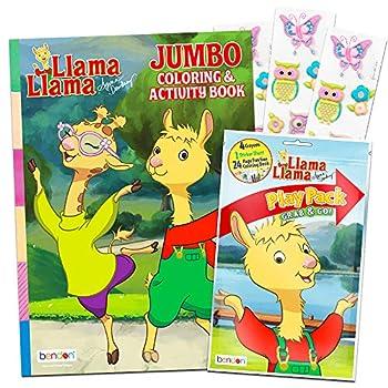 Llama Llama Coloring Book Super Set -- Jumbo Coloring Book Play Pack with Crayons and Stickers  Llama Llama Party Supplies
