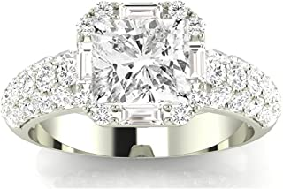 Best 2 carat diamond ring with baguettes Reviews