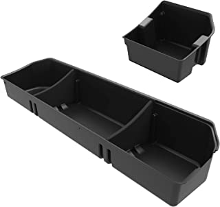 OEDRO Upgraded Under Seat Storage Box Compatible for 2015-2019 Ford F150 SuperCrew Cab & Crew Cab - Unique Textured Black 2-in-1 Design Max Storage (Excl. Ford F-150 Super Cab)