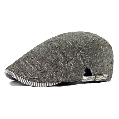 7c398adf914 Gemini mall® Mens Flat Cap Vintage Cabbie Hat Gatsby Ivy Irish Newsboy Caps