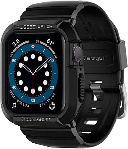 popular Spigen Rugged Armor Pro Designed for Apple Watch online sale Band with Case for 44mm outlet sale Series 6/SE/5/4 - Black sale