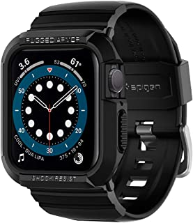 Spigen Rugged Armor Pro Designed for Apple Watch Case for 44mm Series 6/SE/5/4 - Black