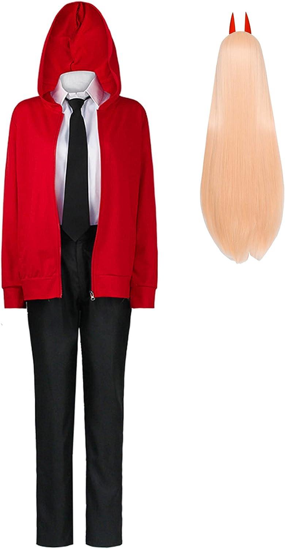 Disfraz de Hombre de Motosierra, Anime de Hombre de Motosierra Denji Power, Disfraz de Cosplay, Uniforme de Fiesta de Carnaval de Halloween, Conjunto Completo para Mujeres y Hombres