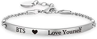 EIGSO BTS Bangtan Boys Bracelet Love Yourself Chain Bracelet SUGA JIN Jimin V JHOPE RM JK BTS Fans Gifts BTS Korean Group Army Gift