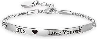 BTS Bangtan Boys Bracelet Love Yourself Chain Bracelet SUGA JIN Jimin V JHOPE RM JK BTS Fans Gifts BTS Korean Group Army Gift