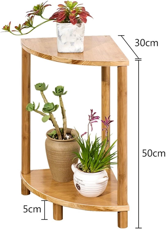 Modern Simple Small Bamboo Flower Stand Flower Rack, Succulent Flower Shelf Bedroom Living Room Flower Rack -by TIANTA (Size   50  30  30cm)