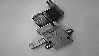 Festo MFH-3-1/8 Solenoid Valve w/ Manual Override w/o Coil & Socket