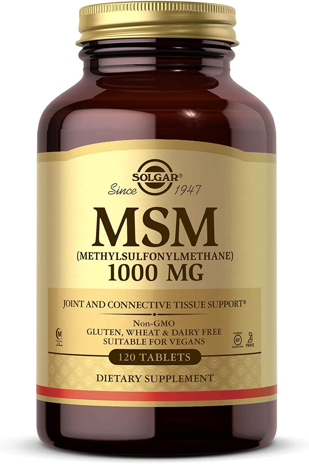 Solgar MSM 1000 mg 120 Tablets Max 41% OFF T Joints Connective - Phoenix Mall Supports