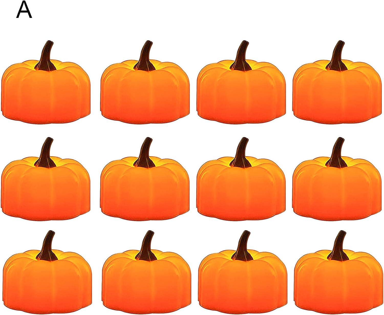 Ranking TOP4 xxiaoTHAWxe Halloween Decoration Lights Lamps latest Lam Pcs 12 Pumpkin