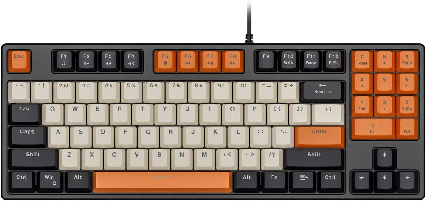5 ☆ popular Havit Mechanical Keyboard 35% OFF Wired 89 Red Swit Gaming Keys
