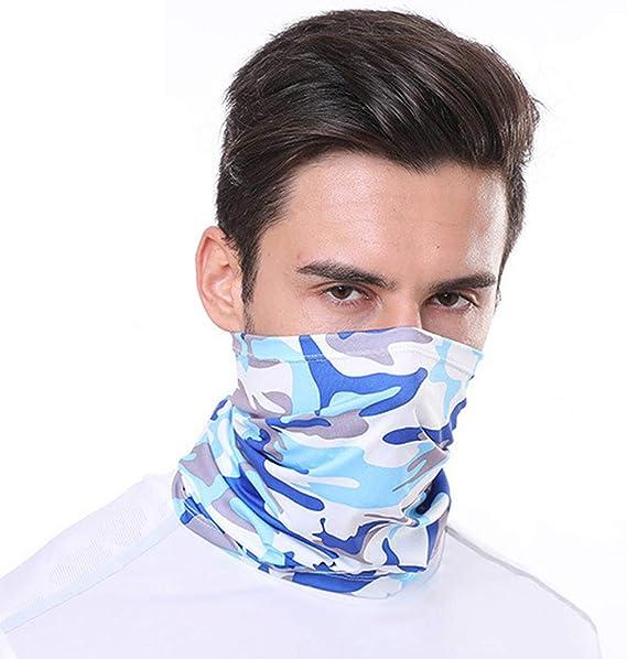 lavable Mascarilla multifuncional para la cara de la bandana protecci/ón UV senderismo yoga correr de tela pesca para el cuello reutilizable m/áscara facial para motocicleta