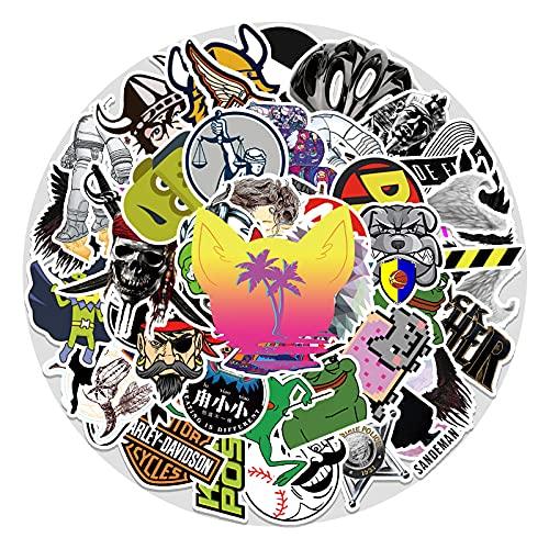 CHENX Rock Cartoon Graffiti Sticker Maleta Laptop Scooter Pegatina Decorativa 50 Piezas