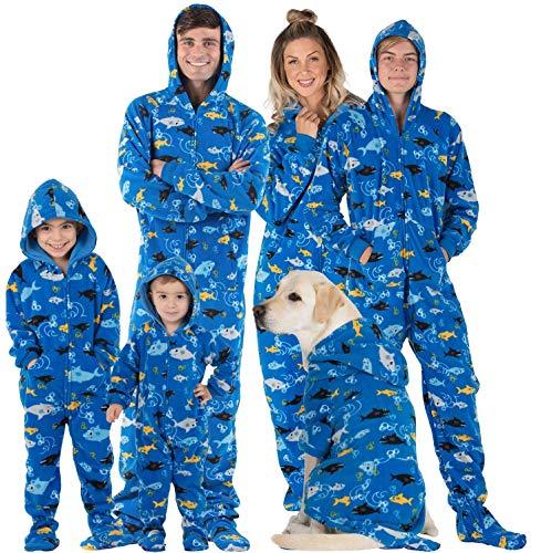 Footed Pajamas Matching Hoodie Onesies