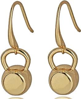 Pop 2019 New Type Nice Fitness Inspirational Kettlebell Dangle Earrings For Women Stainless Steel Black/Silver/Gold-Color Cross Fit Gym Earrings Gift