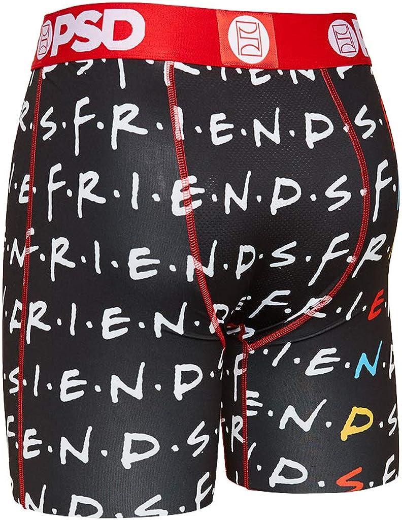 PSD Men's Boxer Brief (Black/Friends Stacked, XXL)