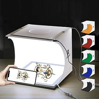 PULUZ Mini LED Photography Shadowless Light Lamp Panel Pad + Studio Shooting Tent Box, Acrylic Material, 20cm x 20cm Effec...