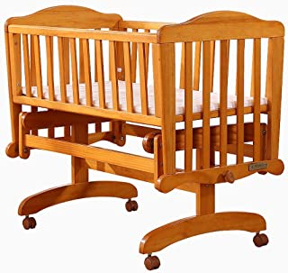 Wooden Baby Cot Bed Toddler Bed Modes Pine Wood Baby Crib Child Cradle Nursery Side Bed Toddler Daybed Furniture  Color Natural  Size 98 7 81 6cm