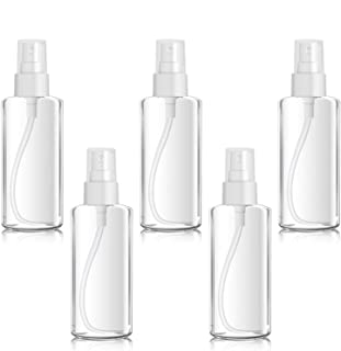 Spray Bottles, 100ML/3.52oz Clear Empty Fine Mist Plastic Travel Atomiser Bottle Set, Small Refillable Liquid Containers w...