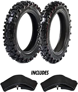 "Protrax Motocross Front 2.50-10 & Rear 2.75-10 Tires w/ 2 Hd Tubes 2.75 X 10"" Combo Kit - Soft/Intermediate Terrain"