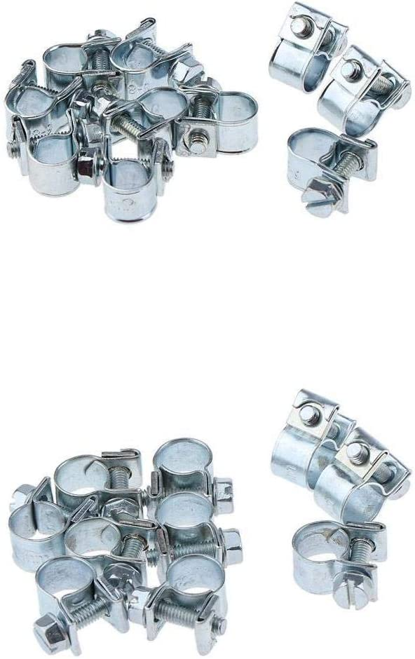 MagiDeal 20-Piece Heavy Duty 304 Latest item Steel Stainless Hose Clip Pipe Popular