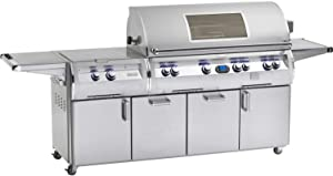 Fire Magic Echelon Diamond E1060s All Infrared Propane Gas Grill With Power Burner And Magic View Window On Cart