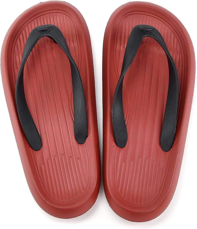 ITMO Men's and Women's Classic Flip Flops, Adult Beach Sandals for Men and Women