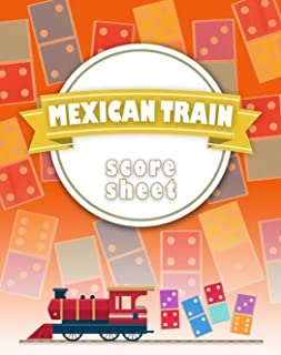 Mexican Train Score Sheet: Chicken Foot & Mexican Train Dominoes Accessories, Mexican Train Score Pads, Chicken Sheets