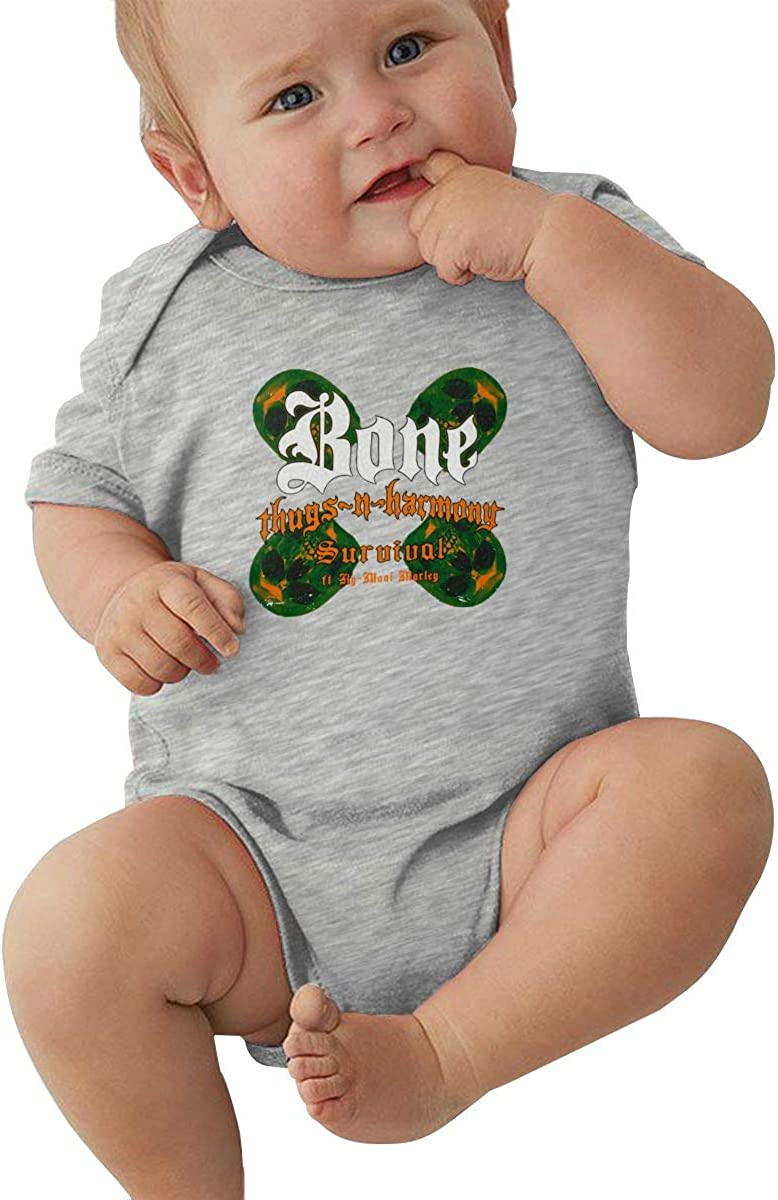 Baby Bodysuit Bone Thugs N Harmony Funny Infant Short Sleeve Baby Clothes Boys Girls 0-24 Month