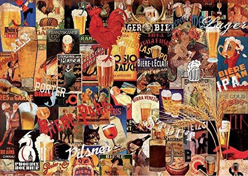 Zyysyzsh Puzzels 1000 Stukjes Volwassen Houten Puzzels Classic Puzzel Vrije Tijd Creatieve Spelletjes,Bierglas