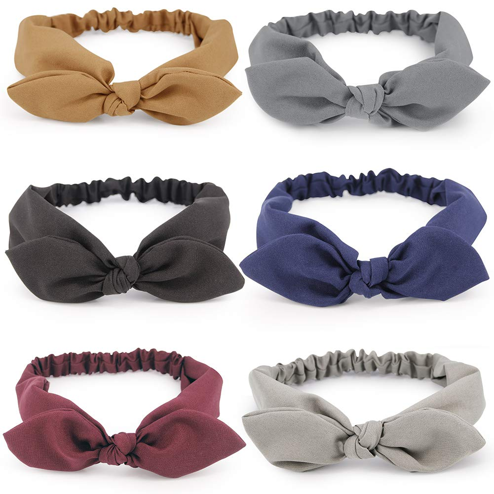 Headband Top Knot Hair Band Bow Hair Accessories Girls Ladies Womens 5 Colors