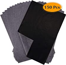 Selizo 150 Sheets Carbon Transfer Tracing Paper Black Graphite Paper for Wood Burning, Wood Carving, Paper, Canvas