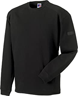 Russell Collection Workwear Heavyduty Crew Neck Sweatshirt Mens Work Sweater